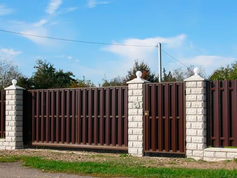 Ворота из евроштакетника