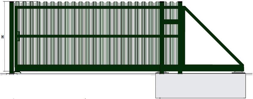 Відкатні ворота з штакетника